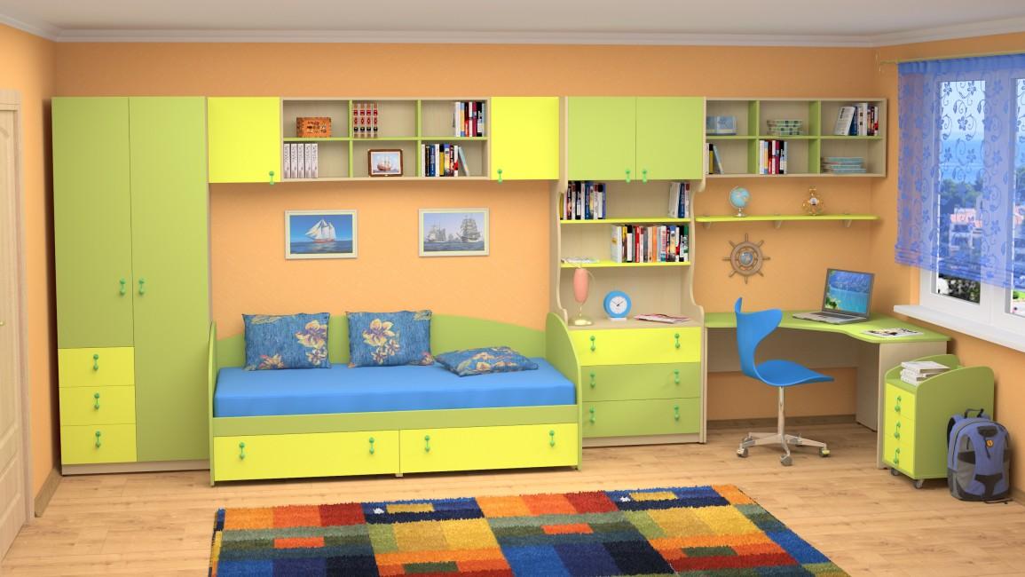 На фото: Практичная мебель для детской, автор: admin