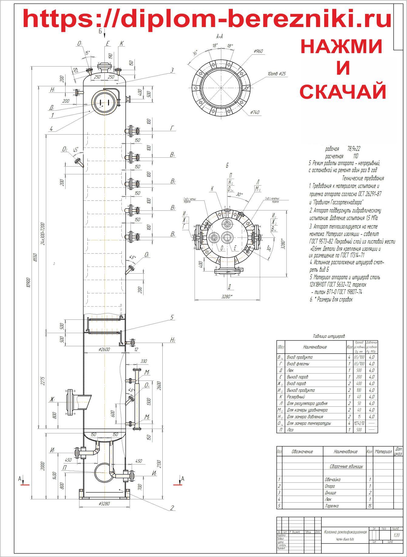 Ректификационная колонна