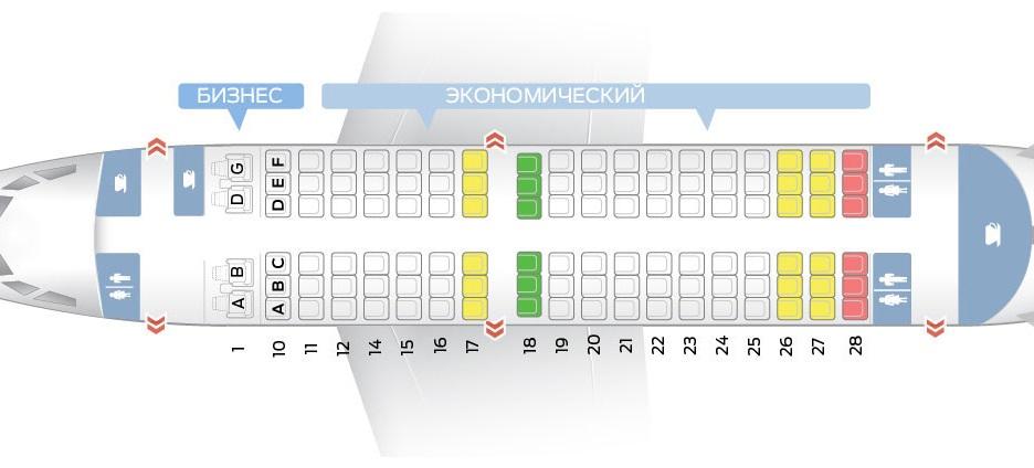 Схема мест в самолете Боинг