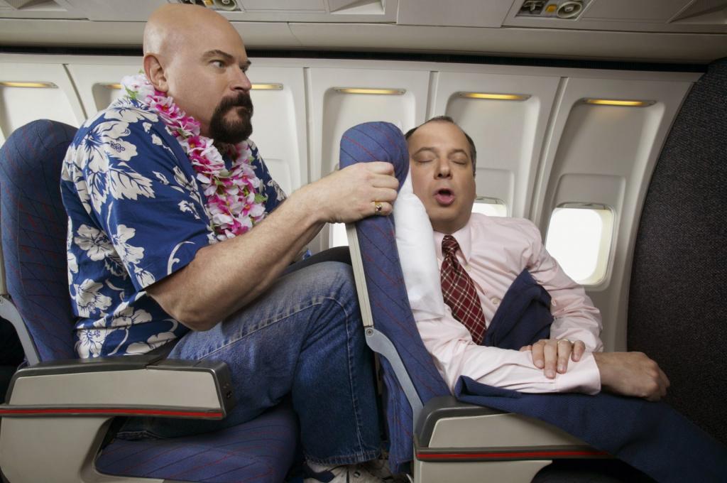 Пассажир, салон самолета