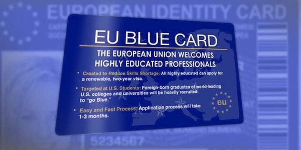 На фото: Получение Blue Card для работы в Евросоюзе, автор: admin
